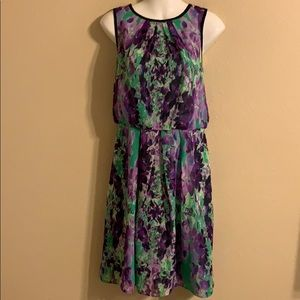 Adrianna Papell floral dress size 8